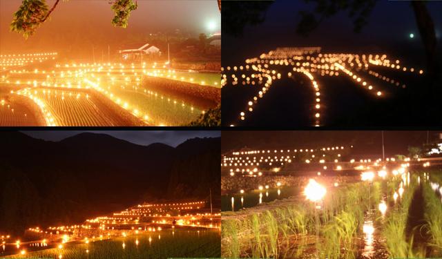約1,200本の手づくりトーチ点灯!朝倉市「棚田の火祭り」6月9日開催