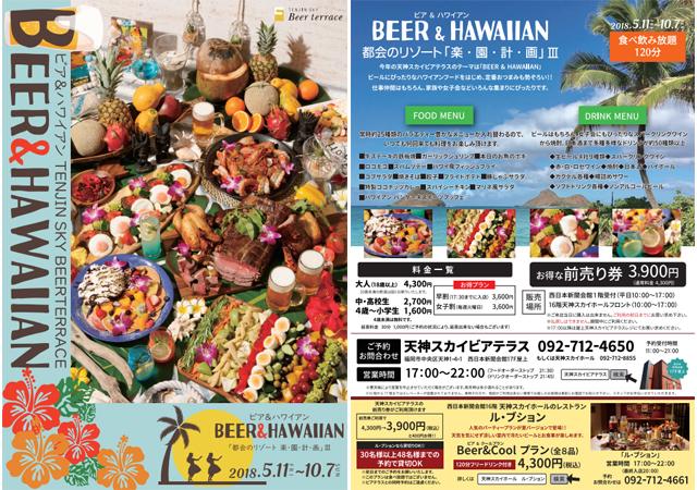 「天神スカイビアテラス」ハワイアンフードなど120分食べ飲み放題!
