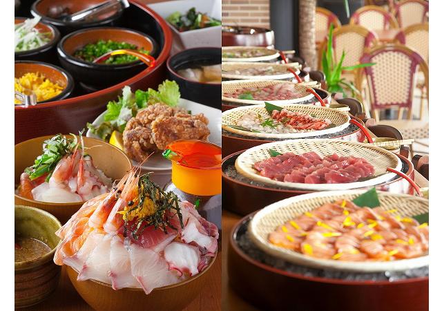 博多で丼から零れる海鮮ビュッフェを1000円で提供!?「磯っこ商店 博多店」がランチタイム復活!