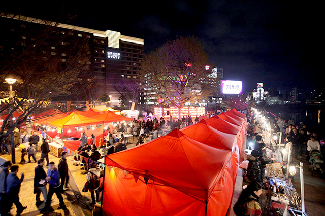 中洲の清流公園で「千年夜市」10月28日まで!