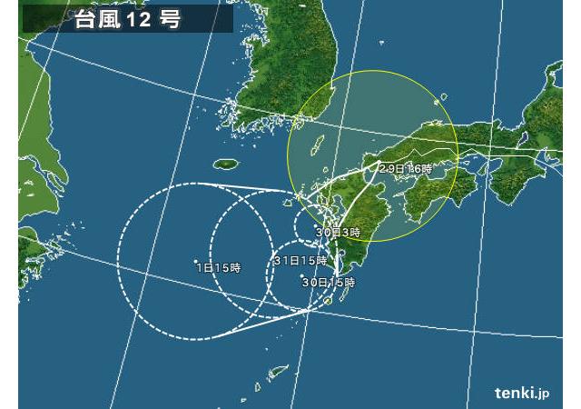 台風第12号 福岡県豊前市に上陸
