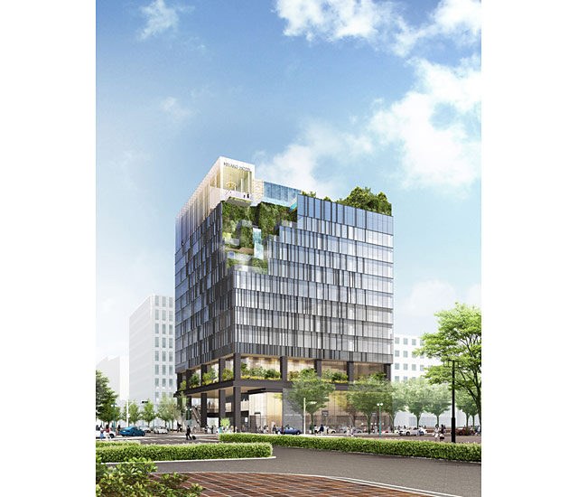 JR博多駅筑紫口前に建設中の「(仮称)近鉄博多ビル」の正式名称が決定
