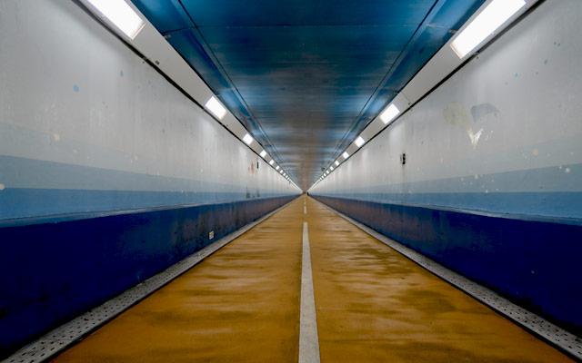 NHKのドキュメント72時間に「関門トンネル人道」が登場