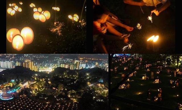 到津の森公園 芝生広場「竹灯籠と一万本の線香花火」8月26日開催
