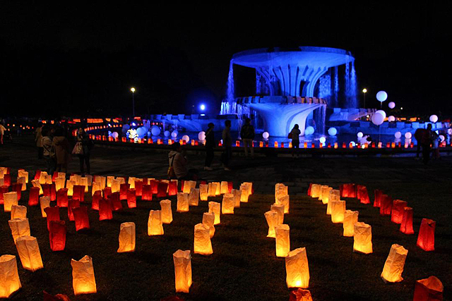 行燈を灯して古人を偲ぶ祭り「春日奴国あんどん祭り」開催