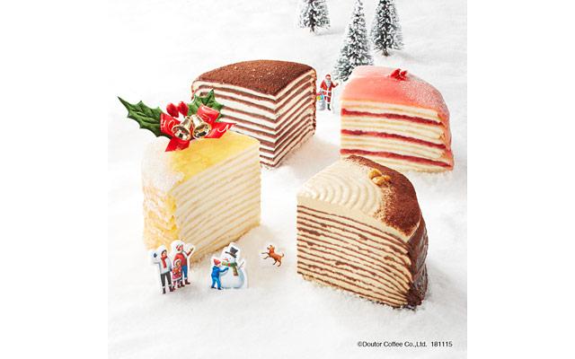 ドトールが季節の人気商品「クリスマスミルクレープ」予約受付開始