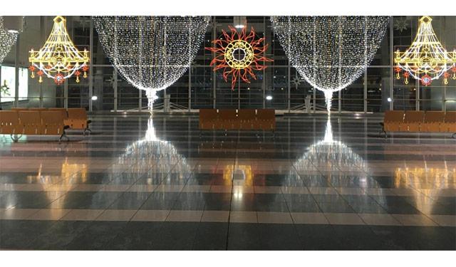 福岡空港でイルミネーション「天空の光劇場」開催へ