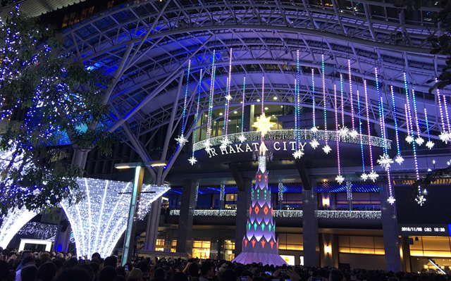 80万球の壮大なイルミネーション!点灯式は山崎まさよしさん!「光の街・博多」が今年も開催!