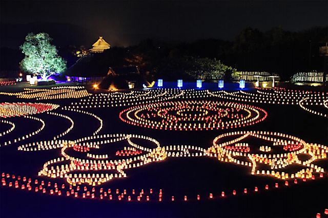 吉野ヶ里歴史公園でライトアップイベント「吉野ヶ里 光の響」開催へ