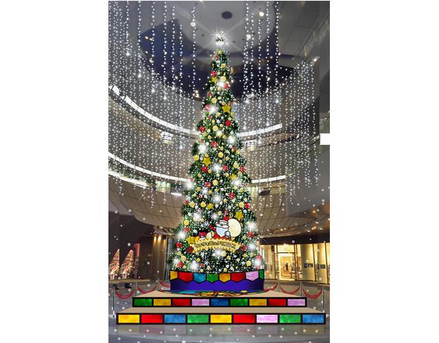 リバーウォーク北九州15周年記念 クリスマスイルミネーション点灯!