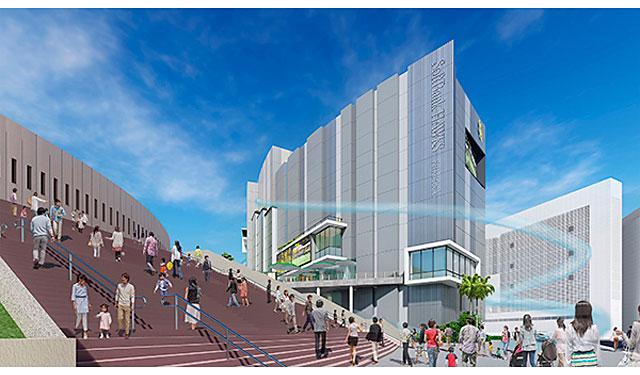 HKT48劇場や全長約100mの滑り台も!ヤフオクドーム敷地内に「エンターテイメントビル(仮称)」建設、順次開業へ