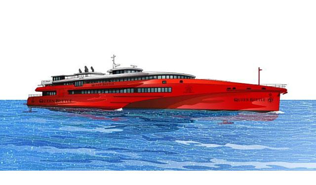 JR九州高速船が新型高速船「クイーンビートル」の起工式実施