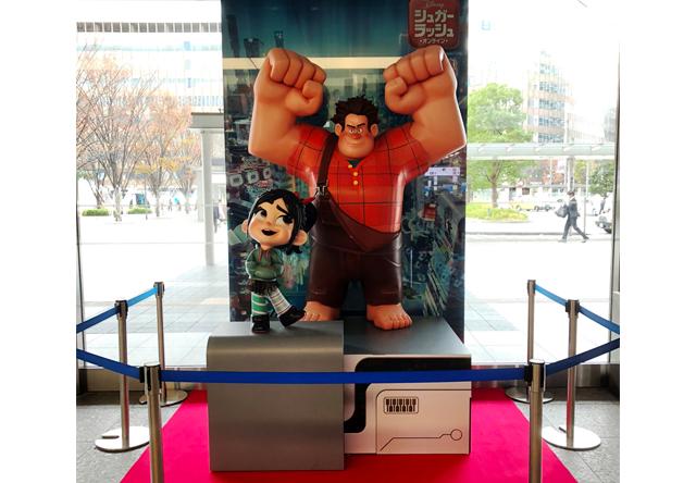 映画『シュガー・ラッシュ:オンライン』公開記念!主人公の等身大キャラクター像が博多駅に登場!