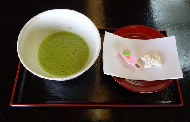 小倉城庭園「正月呈茶無料振る舞い」