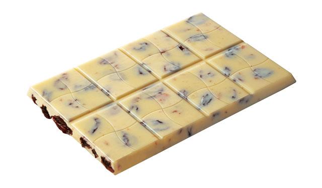 ブルボンから贅沢な味わいのホワイトチョコ『レーズンラッシュ』新発売へ