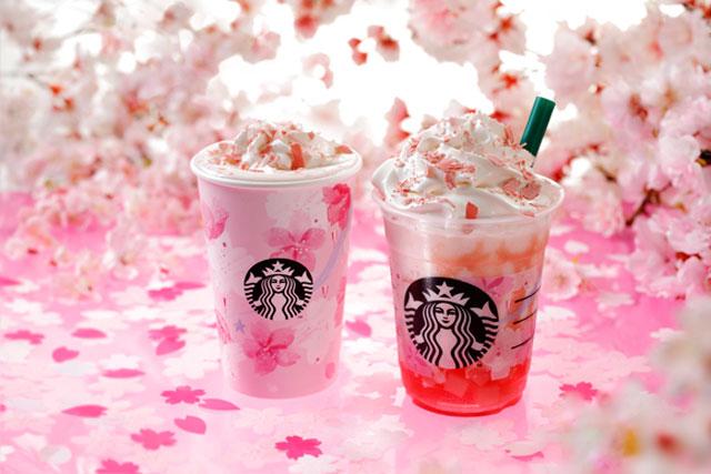 スタバから満開の桜を表現した日本限定ドリンク『さくらフル ミルク ラテ』と『さくらフル フラペチーノ®』発売へ