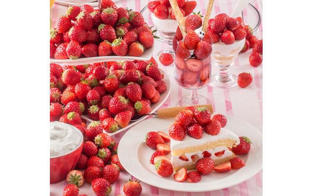 スイパラ全店舗で『プラス480円で「苺」食べ放題』開催へ