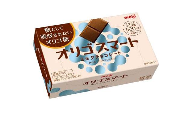 明治から糖として吸収されないオリゴ糖「フラクトオリゴ糖」使用のチョコ登場