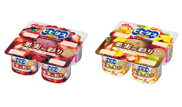 森永乳業から7種のフルーツ入り「ビヒダス ヨーグルト」の新商品2種発売