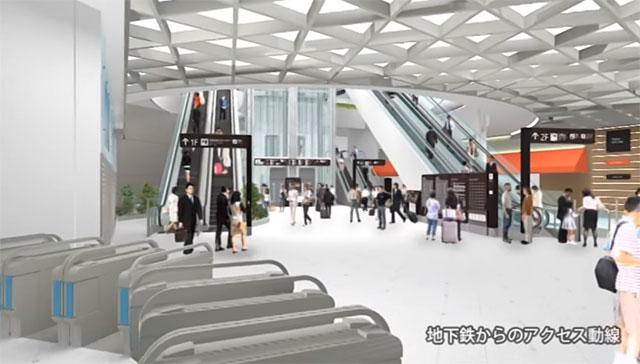 福岡空港 国内線ターミナル 地下鉄アクセスホール供用開始へ