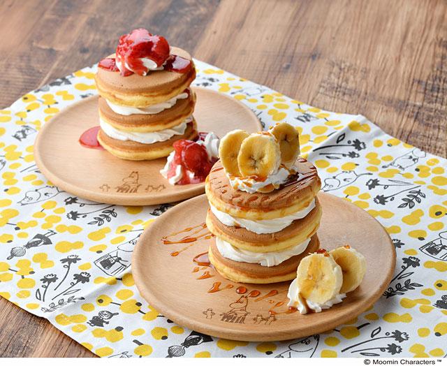 キッズパンケーキ いちごショート/メープルバナナ