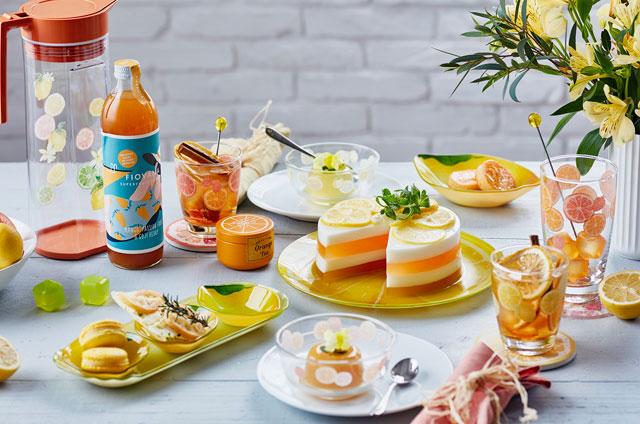 「Afternoon Tea LIVING」からレモン&オレンジのダイニングアイテム新登場