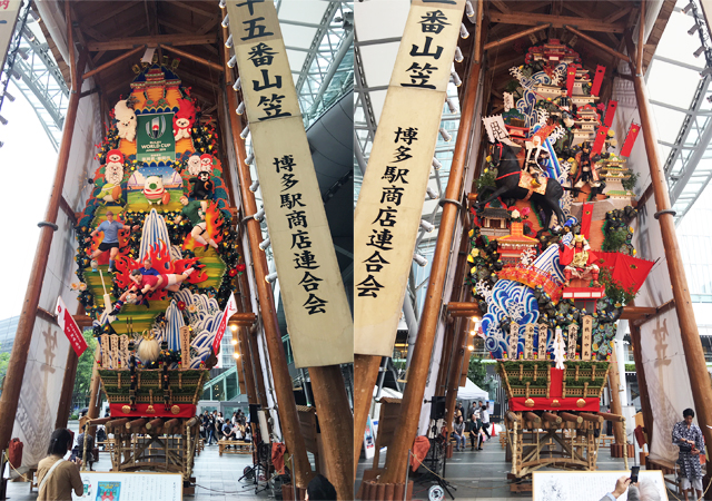 福岡市内の各所に『飾り山』14基公開中!