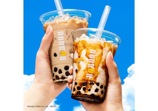 ドトールコーヒーから2種のタピオカドリンクと梅のティードリンクなど同時発売
