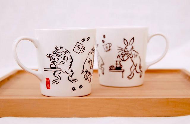 鳥獣戯画マグカップ