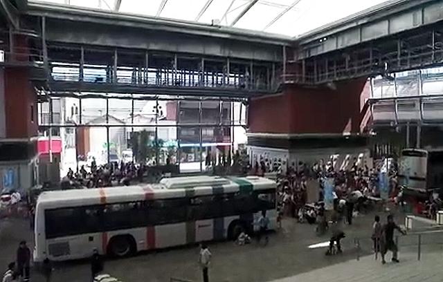 久留米シティプラザで「バス・鉄道フェスタ in くるめ 2019」開催