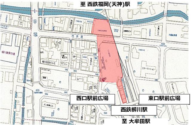 西鉄柳川駅前が水郷・柳川らしいにぎわいのある空間へ