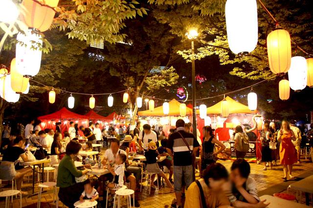 キャナル向かいの駐車場で千年夜市「ナイトマーケット」開催へ