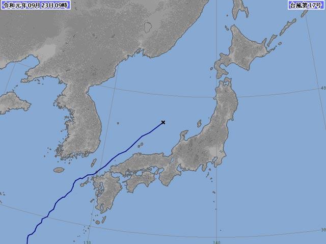 【終報】「台風17号」
