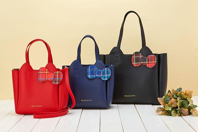 サンリオから大人向けの「ハローキティ タータンデザインバッグ」全6アイテム発売へ