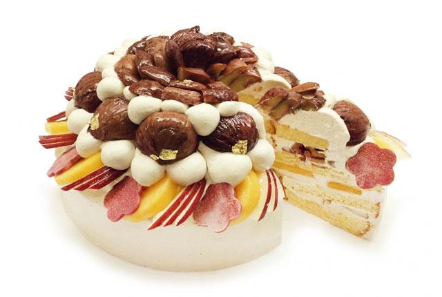 カフェコムサから「熊本県山江村産やまえ栗と献上加賀棒茶クリームのショートケーキ」発売へ