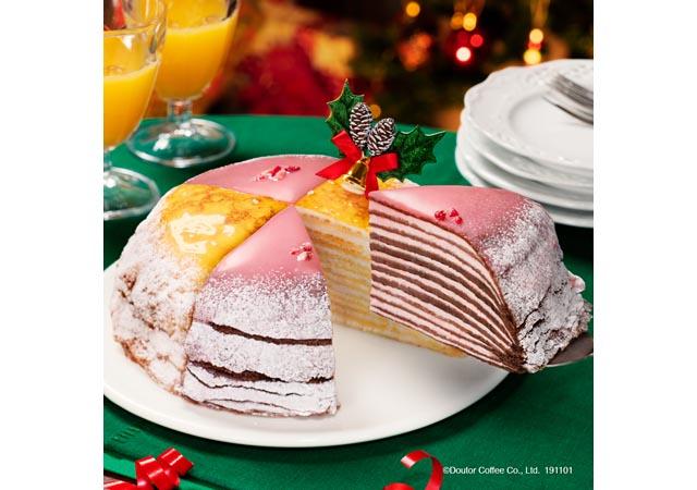 ドトールの期間限定商品「クリスマスミルクレープ」が予約受付開始へ