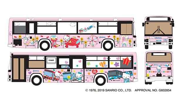 西鉄バス北九州が「ハローキティバス」運行へ
