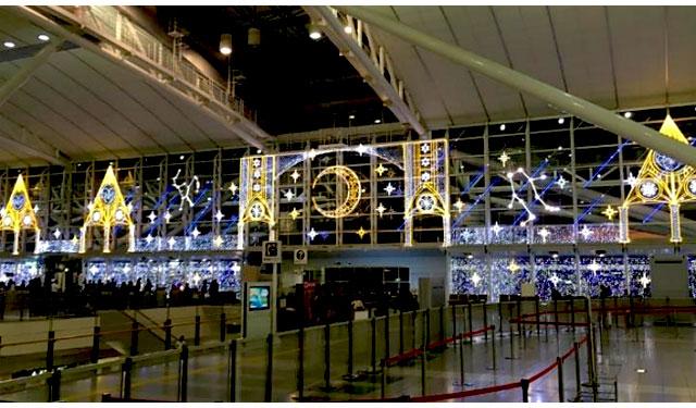 福岡国際空港でクリスマスイルミネーション「天空の光劇場」開催へ