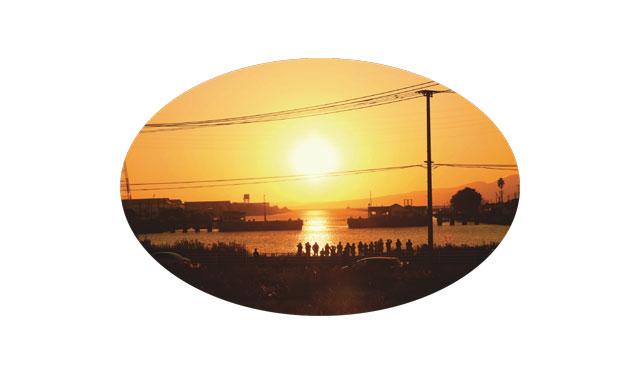 世界遺産の三池港から見える絶景「光の航路」撮影ポイント開放へ