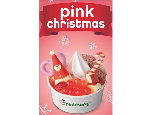 フローズンヨーグルトショップ 『ピンクベリー』で「クリスマススワール」販売!