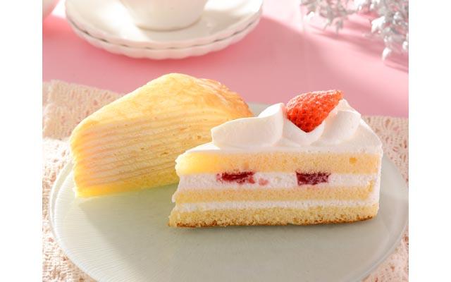 苺のショートケーキ&ミルクレープ