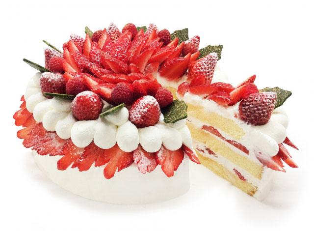 カフェコムサ、今月のショートケーキの日は「クリスマスデザインのショートケーキ」