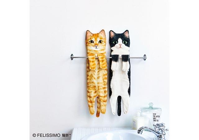 フェリシモ猫部™から「こんなに伸びるの!? なが~い猫タオル」登場