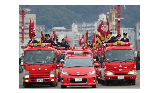 関門海峡ミュージアム横芝生広場「令和2年 北九州市消防出初式」