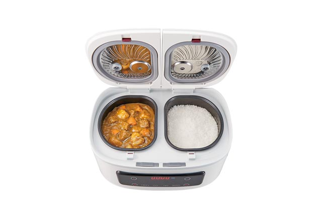 左右の鍋でご飯とおかずを同時に調理「ツインシェフ」登場
