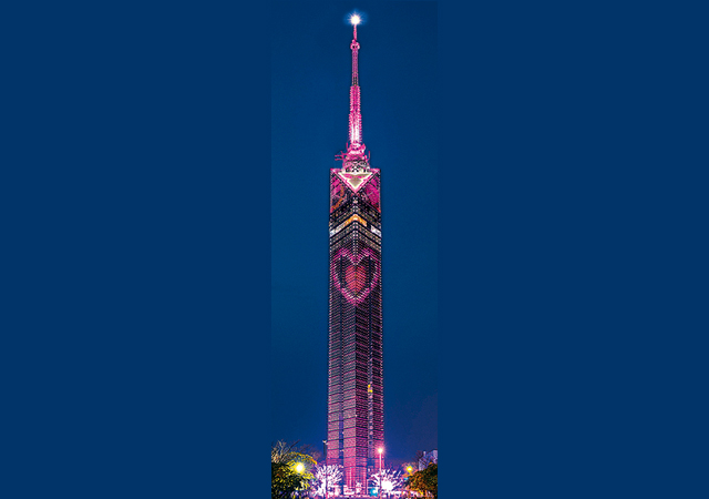 今年も福岡タワーに「ハートのイルミネーション」点灯します