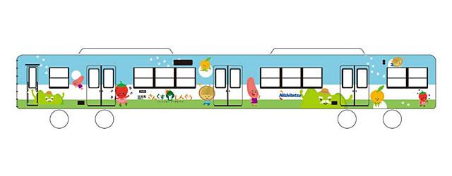 西鉄貝塚線でラッピング電車「さんくすしんぐう」運行へ