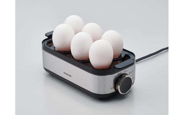 固ゆでたまご・半熟たまご・温泉たまごも簡単調理の「エッグスチーマー」登場