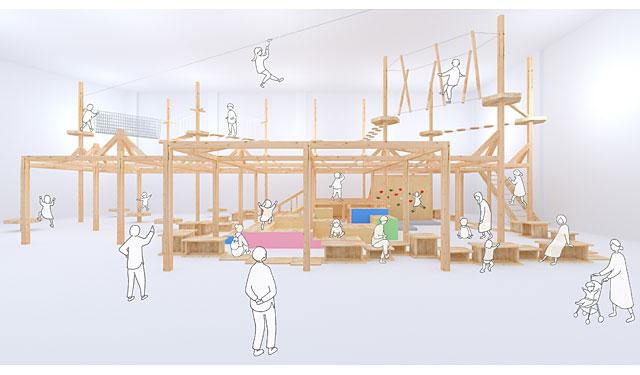 『冒険の森』室内設置型第1号施設がトリアスに誕生