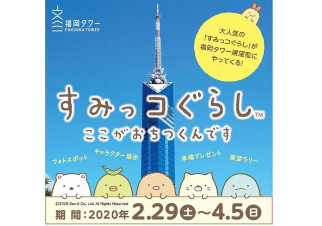 【開催中止】福岡タワー展望室に大人気のすみっコぐらしがやってくる「すみっコぐらし in 福岡タワー」開催!